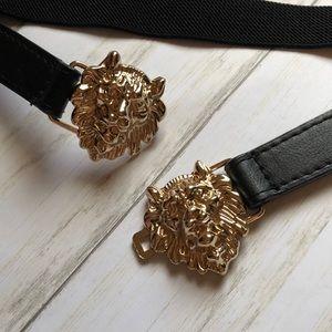 Versace Style Gold Lion Clasp Belt S/M vintage